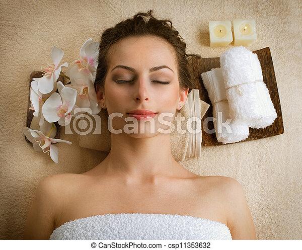 spa, salon, vrouw, beauty - csp11353632