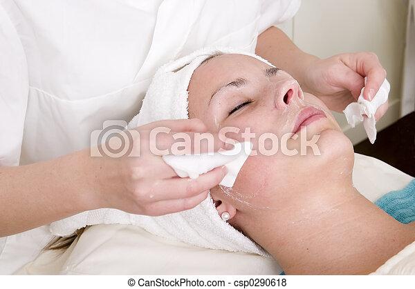 spa, schoenheit, gesichtsbehandlung - csp0290618