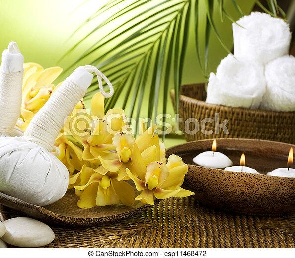 Spa Settings. Thai Massage  - csp11468472