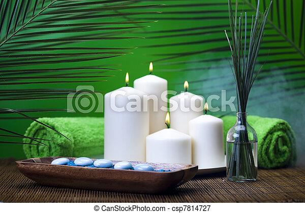 Spa still life with zen - csp7814727