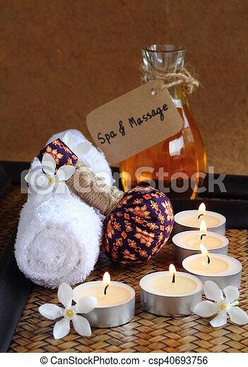 spa, tailandês, massage. - csp40693756