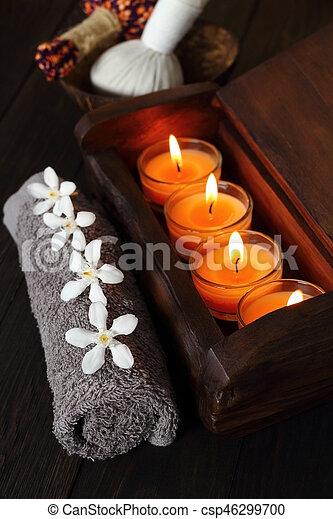 spa, tailandês, massage. - csp46299700