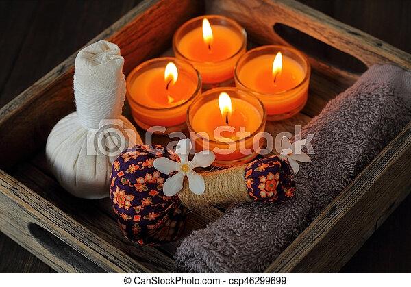 spa, tailandês, massage. - csp46299699