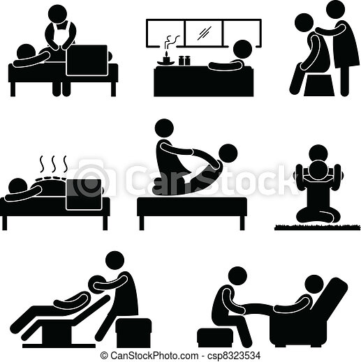 spa, terapia, massagem, wellness - csp8323534