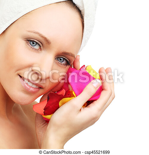 Spa woman - beauty face - csp45521699