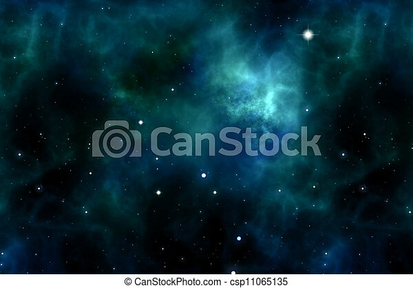 space and stars - csp11065135