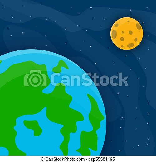 Space Cute Background Vector Illustration Space Pattern With Earth
