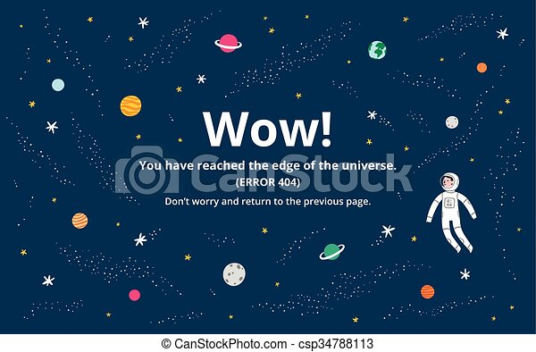 Space error page