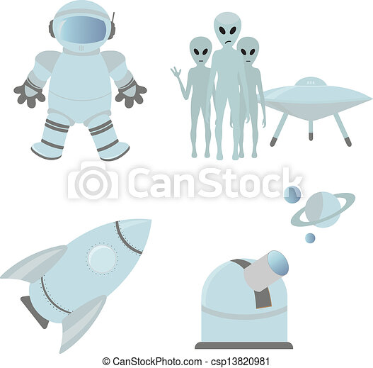 Space icons - csp13820981