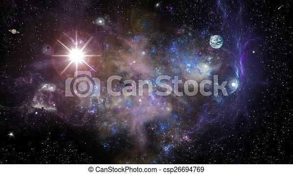 space landscape - csp26694769