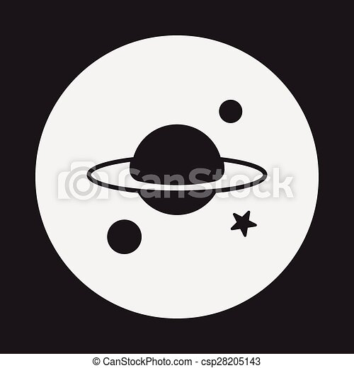 Space planet icon - csp28205143