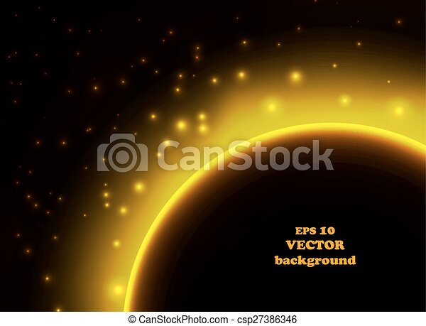 Space planet in the rays of light - csp27386346
