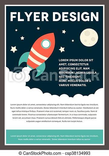 Space Rocket Flyer Template Design A Space Rocket Themed Design