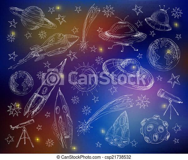 Space set color background - csp21738532