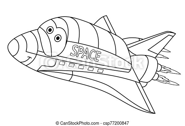 Spaceship #75 (Transportation) – Printable coloring pages | 312x450
