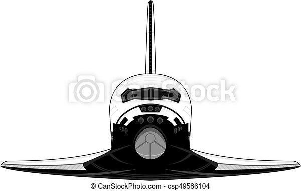 cartoon space shuttle vector illustration rh canstockphoto com space shuttle vector free space shuttle thrust vectoring