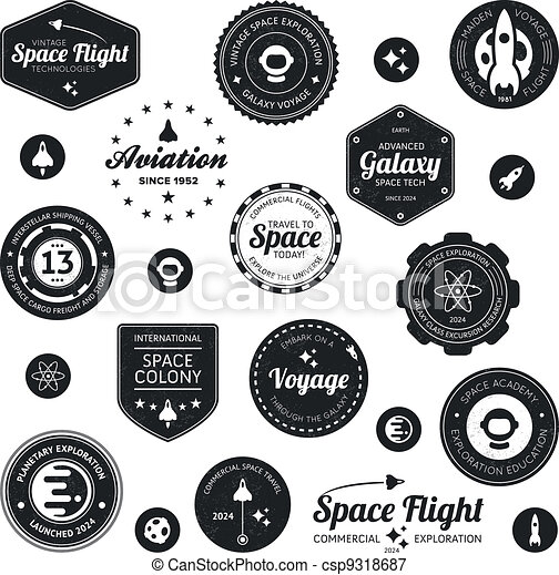 Space travel badges - csp9318687