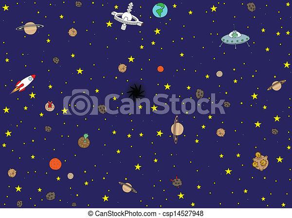 Space wallpaper - csp14527948