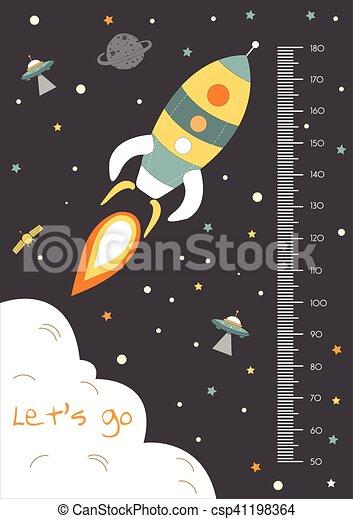 Space,Meter wall or height meter - csp41198364