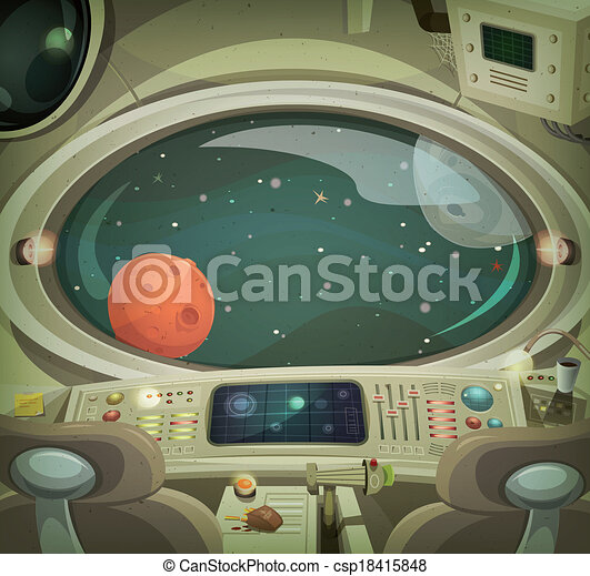 spaceship interior illustration of a cartoon graphic House Windows Clip Art Home Window Clip Art