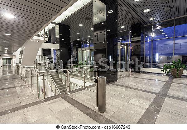 Spacious modern building - csp16667243