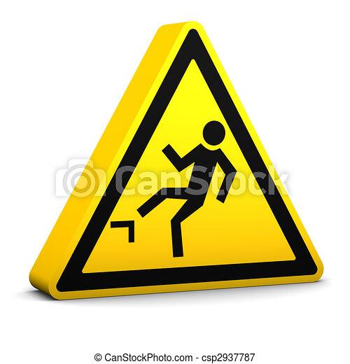 spadanie, ryzyko, znak - csp2937787