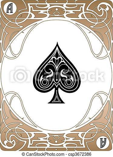 spade card art  Spade Ace Card