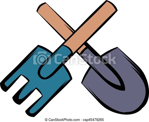 spade and pitchfork icon cartoon spade and pitchfork icon clip rh canstockphoto com  asu pitchfork clipart
