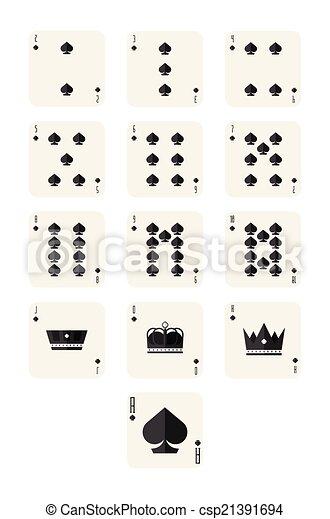 spade cards - csp21391694