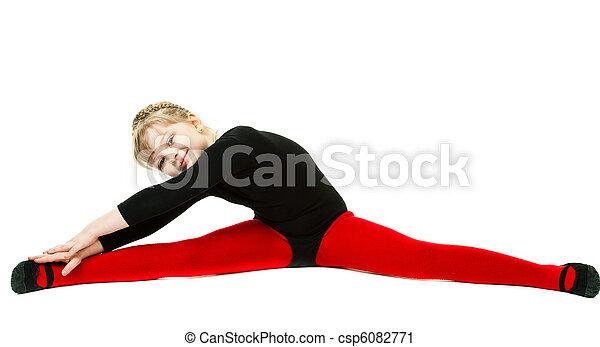spagaat oefening vrijstaand achtergrond meisje boog