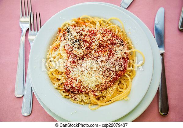 spaghetti alla napolitana - csp22079437