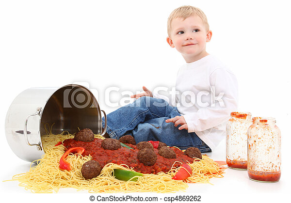 Spaghetti Children - csp4869262