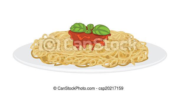 spaghetti, délicieux - csp20217159