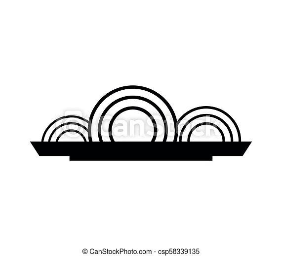 spaghetti, icône - csp58339135