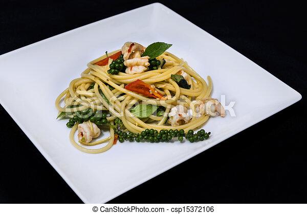 Spaghetti Seafood - csp15372106