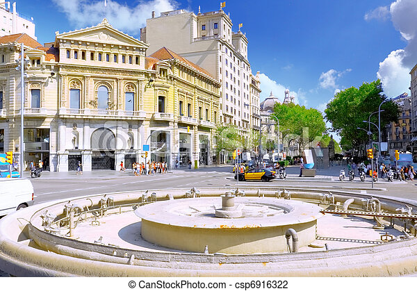 spain., バルセロナ, 光景, 都市 - csp6916322