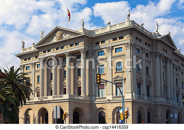 Spain. Barcelona. Military Government Building   - csp14416359