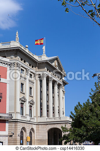 Spain. Barcelona. Military Government Building   - csp14416330