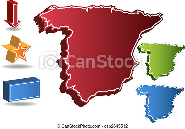 Spain country map - csp2645512