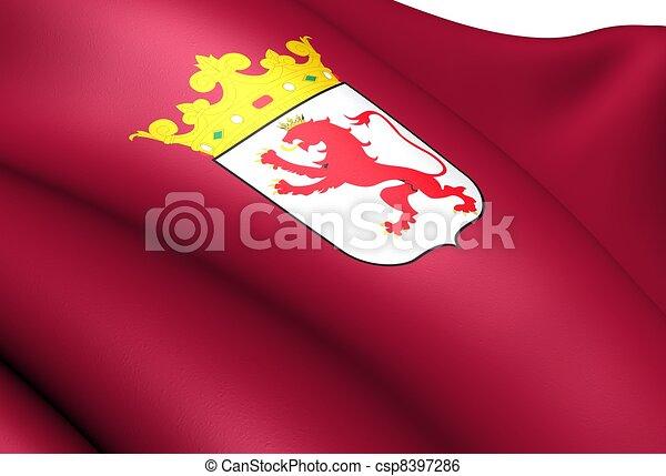 spain drapeau province leon haut leon drapeau fin illustration de stock. Black Bedroom Furniture Sets. Home Design Ideas
