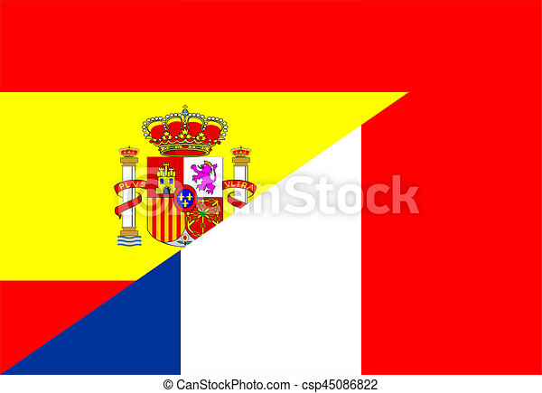 Spain france flag spain france neighbour countries half clip art spain france flag csp45086822 publicscrutiny Choice Image