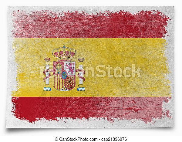 Spain grunge flag - csp21336076