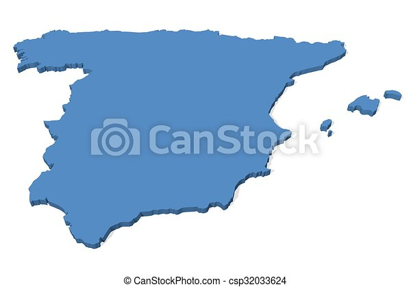 3d Map Of Spain.Spain Map