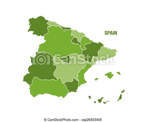 Map Of Spain By Region.Spain Map With Region