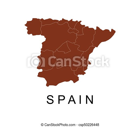 Map Of Spain With Regions.Spain Map With Regions