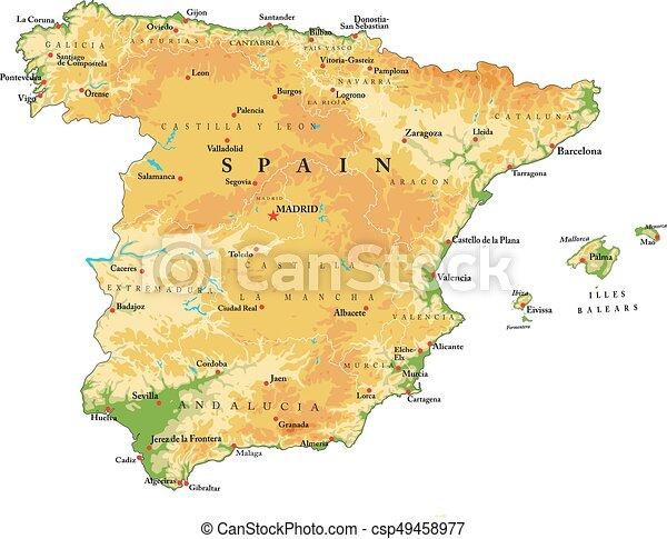 Spain relief map - csp49458977