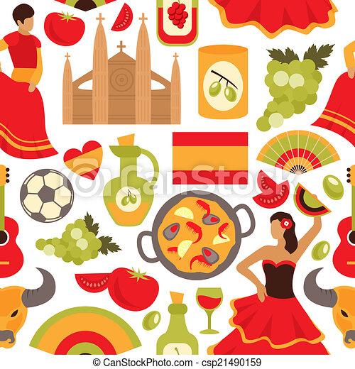 Spain seamless pattern - csp21490159