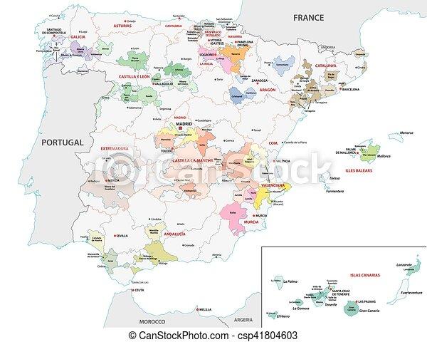Map Of Spain By Region.Spain Wine Region Map