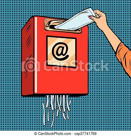 Spam trash junk email - csp37741769