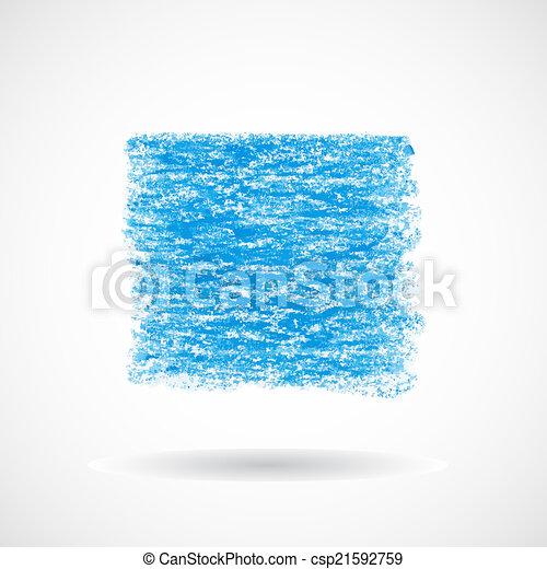 spandoek, plein, blauwe , pastel, olie - csp21592759